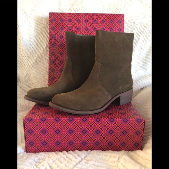 acec70056 Tory Burch Siena Bootie River Rock suede size 9.5